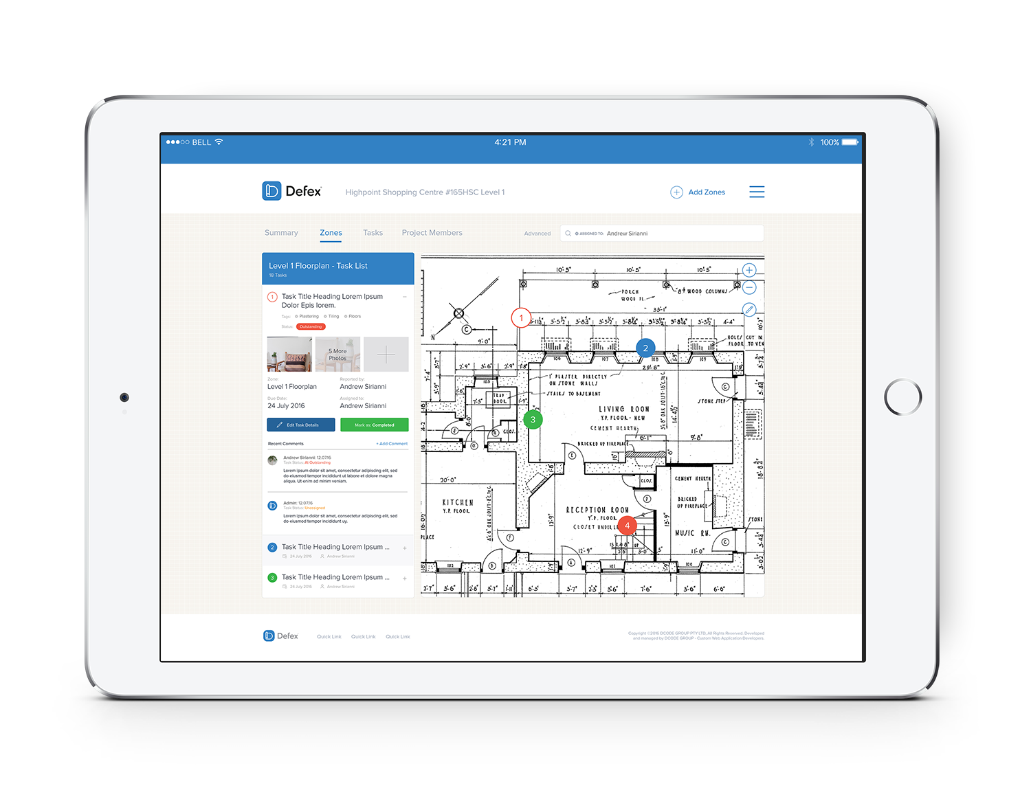 Defex is an online task-management solution compatible with Tablets and Mobile Devices